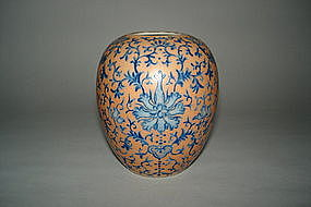Finely Enamelled Chinese Vase Jurentang Mark c1916-1920