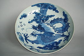 Early 18th Century Chinese Dragon Dish - Yongzheng