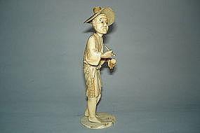Japanese Carved Ivory Okimono -  Meiji  (1868-1911)