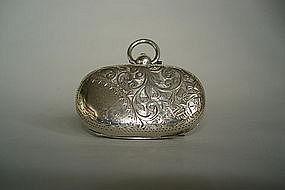 Edwardian Sterling Silver Sovereign Holder Chester 1908