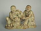 Rare 17th Century Chinese Soapstone Hehe Erxian