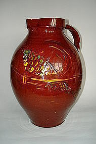 Large Brannam Pottery Fish Jug - made for Liberty & Co