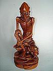 18th Century Carved Huang Yang Figure Damo, Qianlong