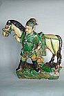 Ming Dynasty Roof  Ridge Tile Horse & Groom (1368 -1644