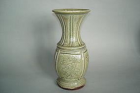19th Century Celadon Glazed Porcelain Vase - Daoguang