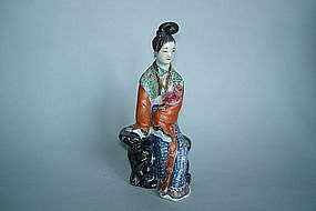 Late 19th Century Enamelled Figure - Guangxu 1875-1908