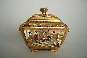 Fine Satsuma Earthenware Koro from Japan - Meiji Period