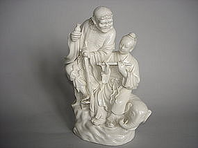 19th/20th Century Dehua Blanc de Chine Figure Group