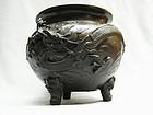 Large Japanese Bronze Dragon Censer Meiji (1868-1911)