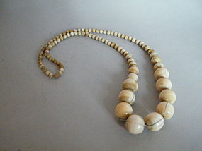 Large Antique Chinese Ivory Necklace