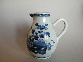 Mid 18th Century Chinese Export Bl/W Jug - Qianlong