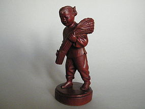 Cultural Revolution Carved  Wood Figure, c 1968-1970