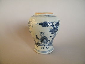 Small 16th/17th Century Ming Dynasty Blue & White Vase