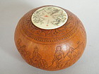 Very Fine Carved Gourd with Ivory Cover - Guangxu 1897