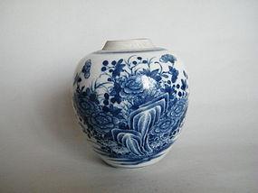 18th Century Blue & White Chinese Export Jar c1720-1730