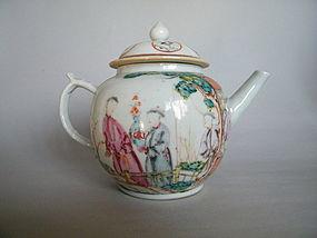 18 Century Famille Rose Chinese Export Teapot, Qianlong