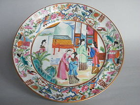 Early 19th Century Famille Rose Wedding Dish 1800-1850