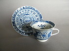Early 18th Century Chinese Export Cup & Saucer - Kangxi