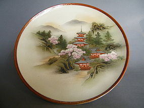 Japanese Satsuma Earthenware Dish - Meiji (1868-1911)