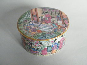 Fine Early 19 Century Chinese Famille Rose Box & Cover