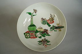 "Fine Early 18th Cent ""Famille Verte"" Small Dish, Kangxi"