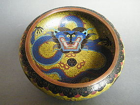 Chinese Cloisonne Enamel Dragon Bowl, probably Guangxu