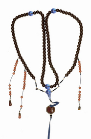 19C Chinese Herb Medicine Bead Court Necklace Chao Zhu