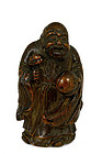 18/19C Chinese Bamboo Shoulo Sage Figurine