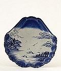 19C Japanese Blue White Imari Mt. Fuji Plate