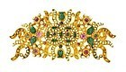 Chinese Openwork 22K Gold Gems-Inlaid Ornament Mk
