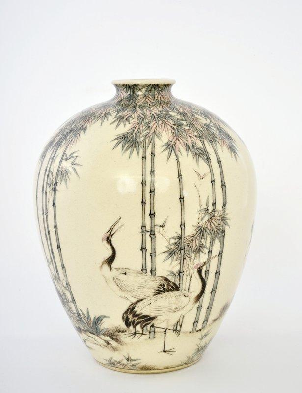 Meiji Japanese Studio Satsuma Vase Ito Tozan Sg