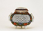 19C Japanese Color Hirado Censer Incense Burner Koro