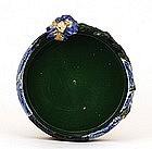 Old Japanese Sumida Gawa Iris Flower Bowl
