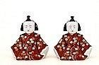 2 Old Japanese Koransha Fukagawa Imari Boy Doll Mk