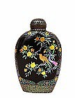 Meiji Japanese Lac Burgaute Lacquer Pearl Snuff Bottle