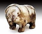 16C Chinese White Jade Nephrite Elephant