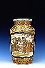 19C Japanese Meizan Satsuma Vase with Figure