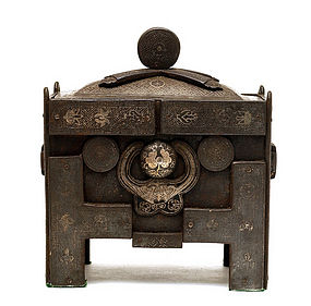 19C Korean Silver Inlaid Iron Censer Incense Burner