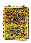 Japanese Mixed Metal Komai Style Cigarette Case Compact