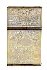 19C Chinese Export Mother Pearl Silver Card Case