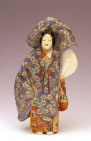 Meiji Japanese Tozan Studio Satsuma Noh Dancer Figure
