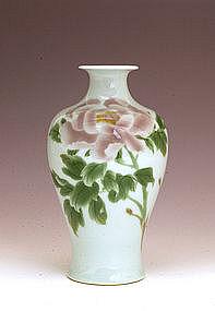 Meiji Japanese Studio Sumida Gawa Ryosai Vase Sg