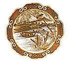 Meiji Japanese Satsuma Yabu Meizan Plate