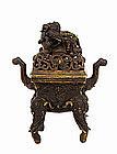 18C Chinese Bronze Elephant Censer Incense Burner
