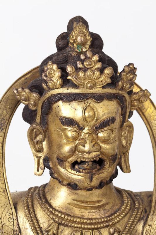 Sino-Tibetan Gilt Bronze Figure of Buddhist Diety