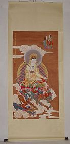 Guanyin in a Gold Cloak by Zhang Daqian (1899-1983)