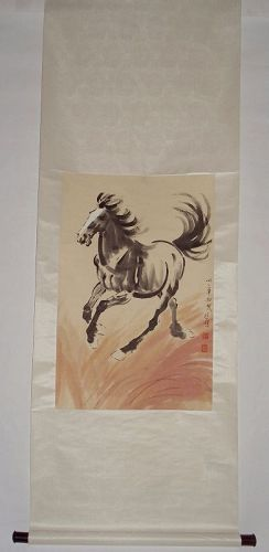 An Ink-Painted Galloping Horse / Xu Beihong (1895-1953)