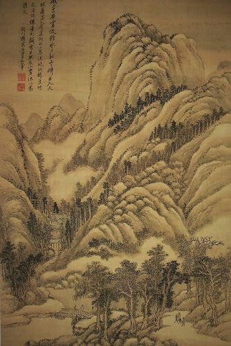 Recluse Life in Remote Mountains / Wang Hui (1632-1717)