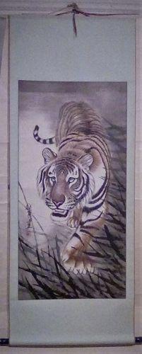 A Fantastic Tiger Painting /Gu ShiXiongxiong (Contemporary)