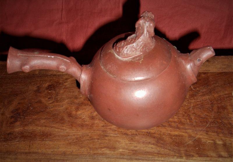 Zisha Teapot with Tree-Gall Shaped Spout&Beast-Knot /Wu Yungen